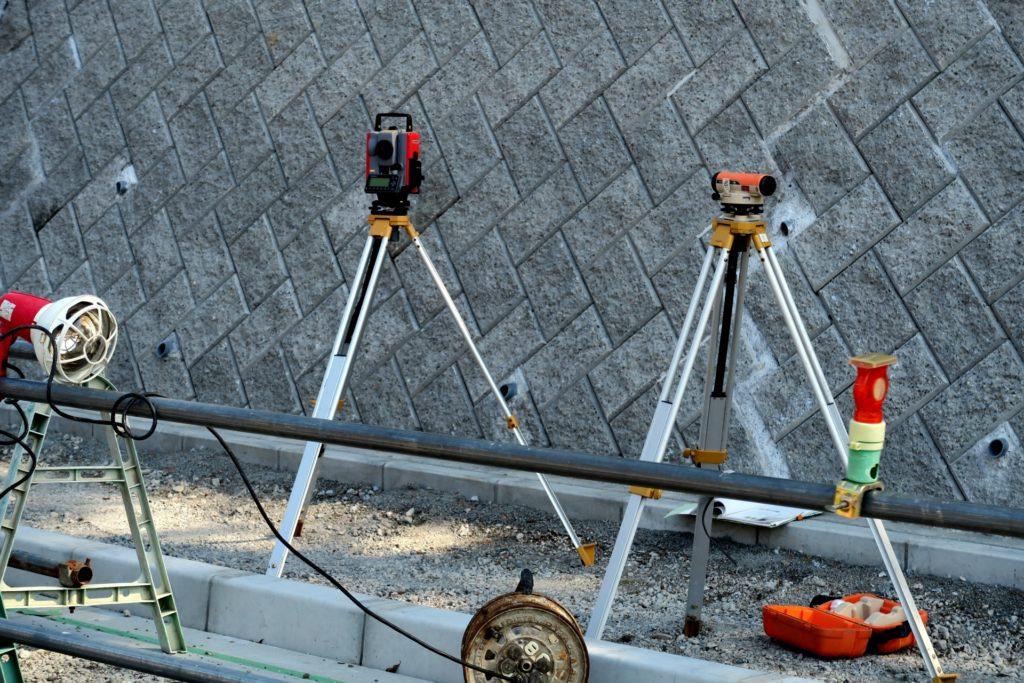 建築現場の測量